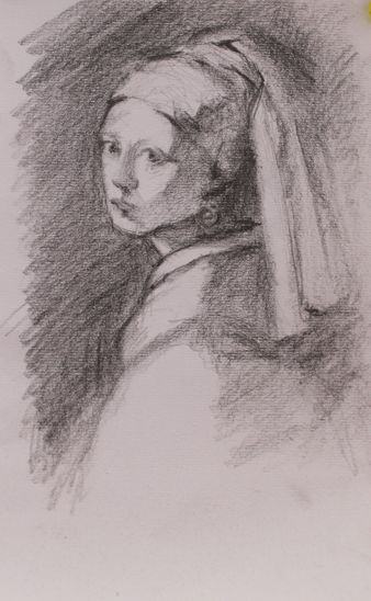 Vermeer, The Girl with the Pearl Earring  20*15 cm