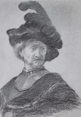 Rembrandt Drawing  20*25 cm