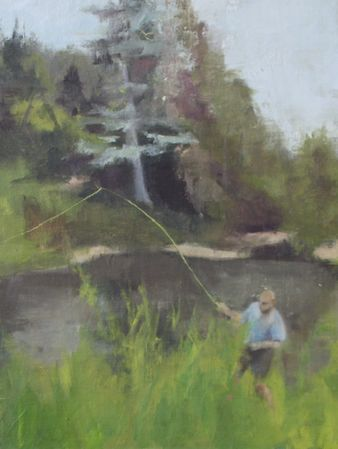 Fisherman in Vale, Colorado 40*30 cm