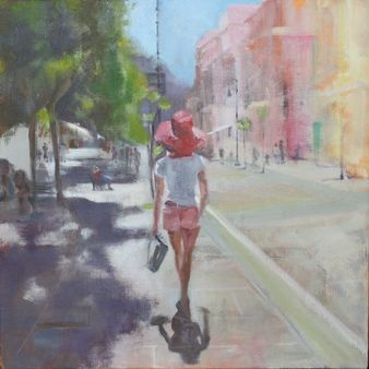 Strolling the Streets of Sorrento 50*50 cm