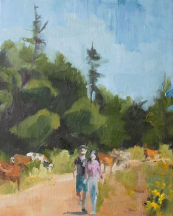Strolling with the Cattle  50*40 cm